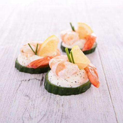 Toast de concombre à la crevette   Recette (avec images ...