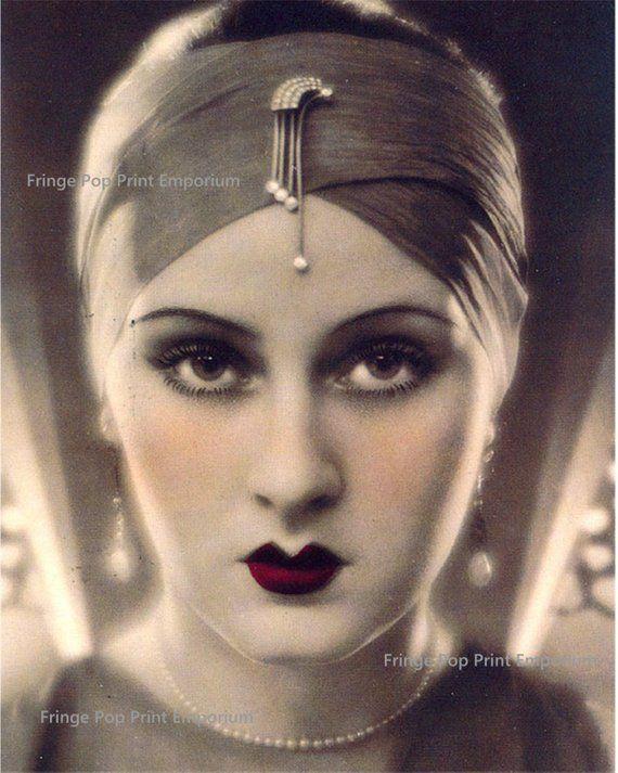 Art Deco Flapper Art Print 8 x 10  Great Gatsby Era  1920s | Etsy