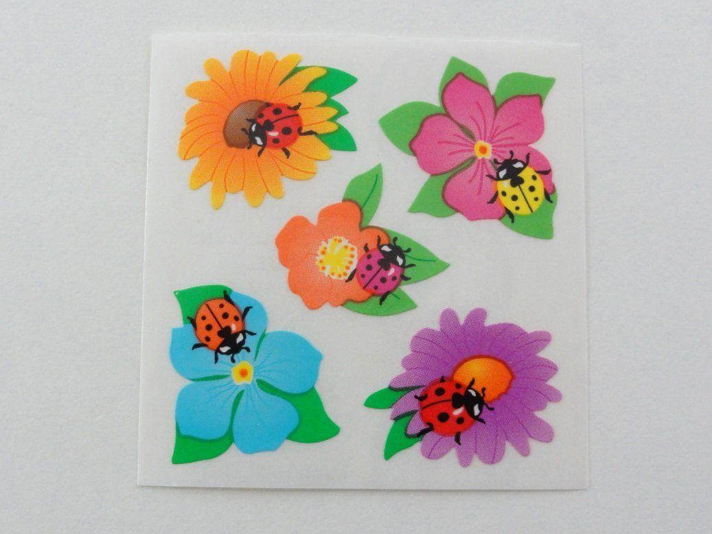 Strip of Flower Stickers/' Mrs Grossman TWINKLE FLOWERS Reflections