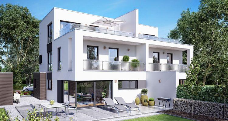 Doppelhaus Gemello FD 280 Fertighaus Doppelhäuser