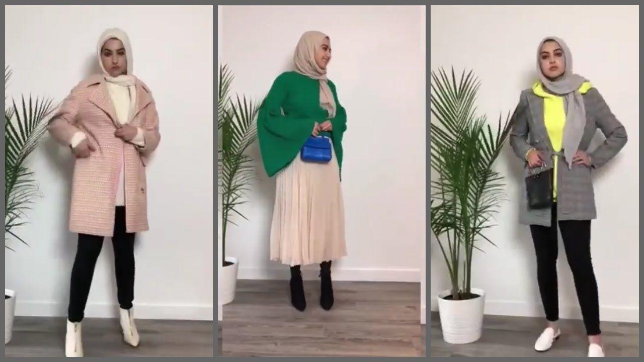 أحلى تشكيلات من ملابس كاجوال للمحجبات Hijab Lookbook Casual Simple Hijab Fashion Hijabi
