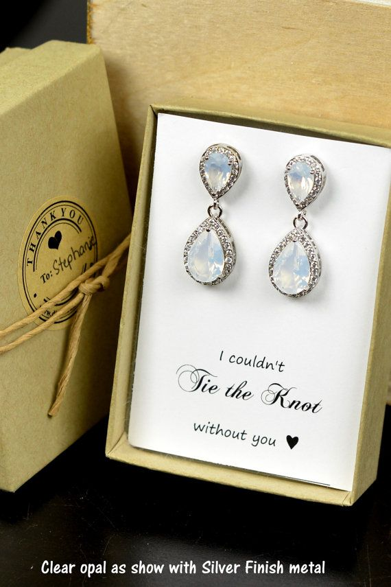 Claro opal opal blanco boda joyería de Dama por TheMagnoliaJewelry
