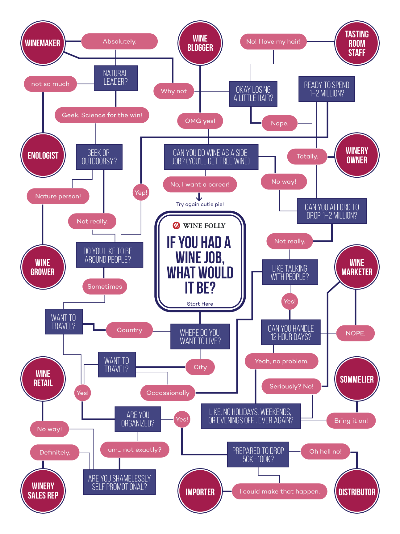 If You Had a Wine Job, What Would It Be? (Flow Chart