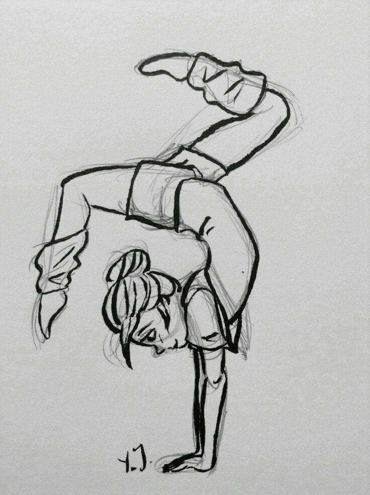 Танцы рисунок карандашом, девушке
