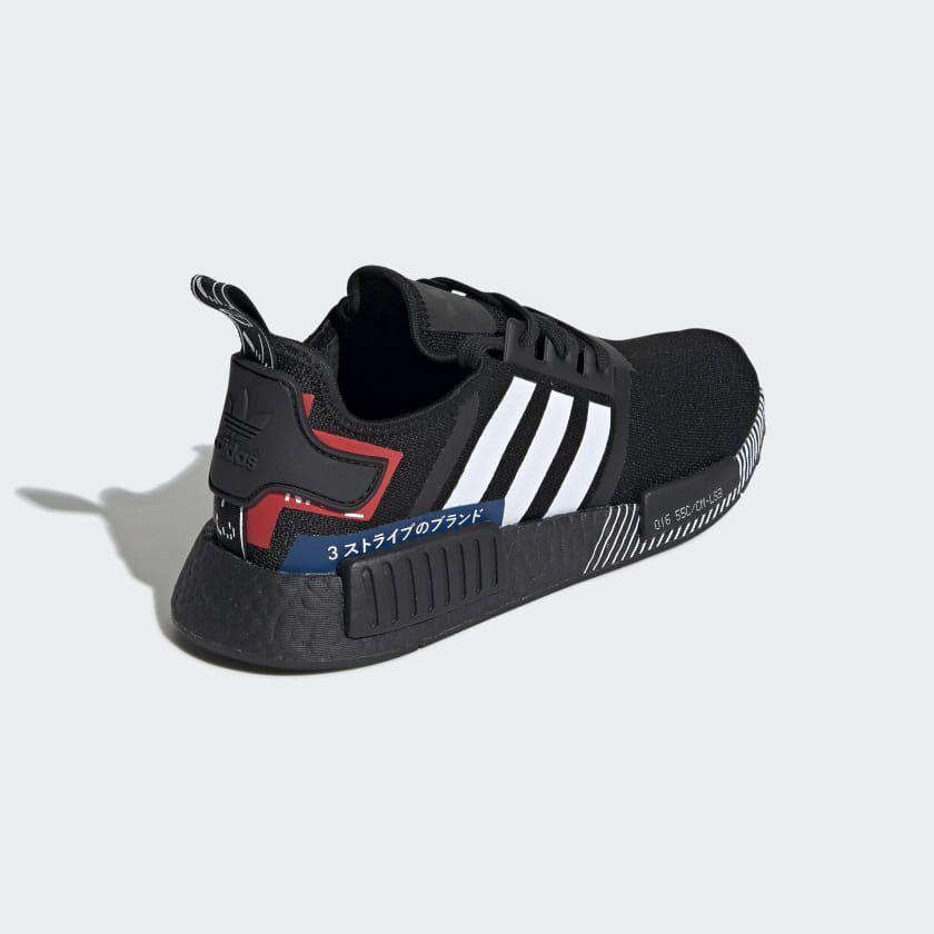 Nmd R1 Shoes Core Black Cloud White Lush Blue Ef1734