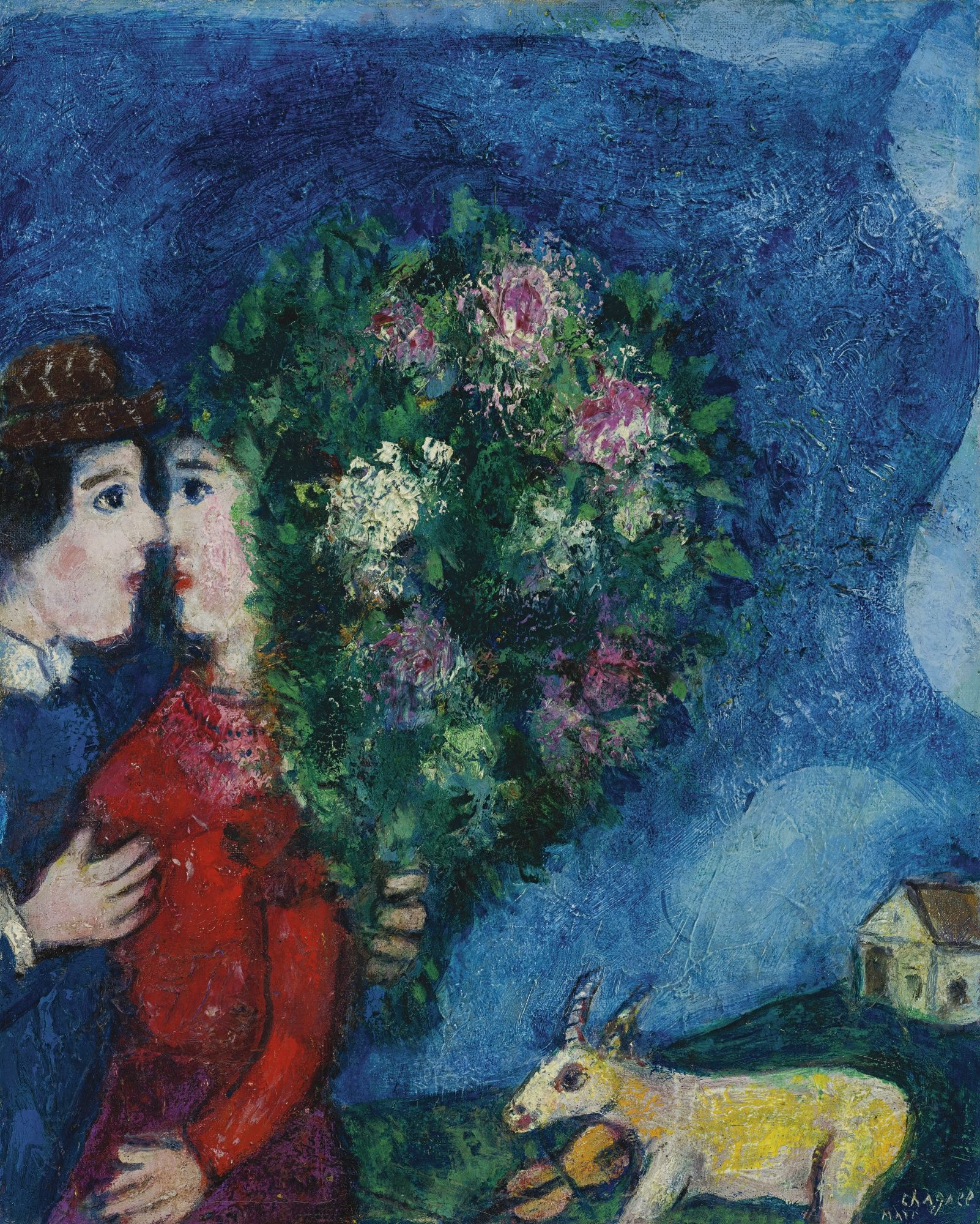 marc chagall les amoureux au bouquet t chagall sothebys art pinterest marc chagall. Black Bedroom Furniture Sets. Home Design Ideas
