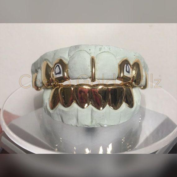 Custom 8 Piece Gold Grillz Silver 8k Dental Gold 10k Gold Gold Grillz Grillz Custom Grill