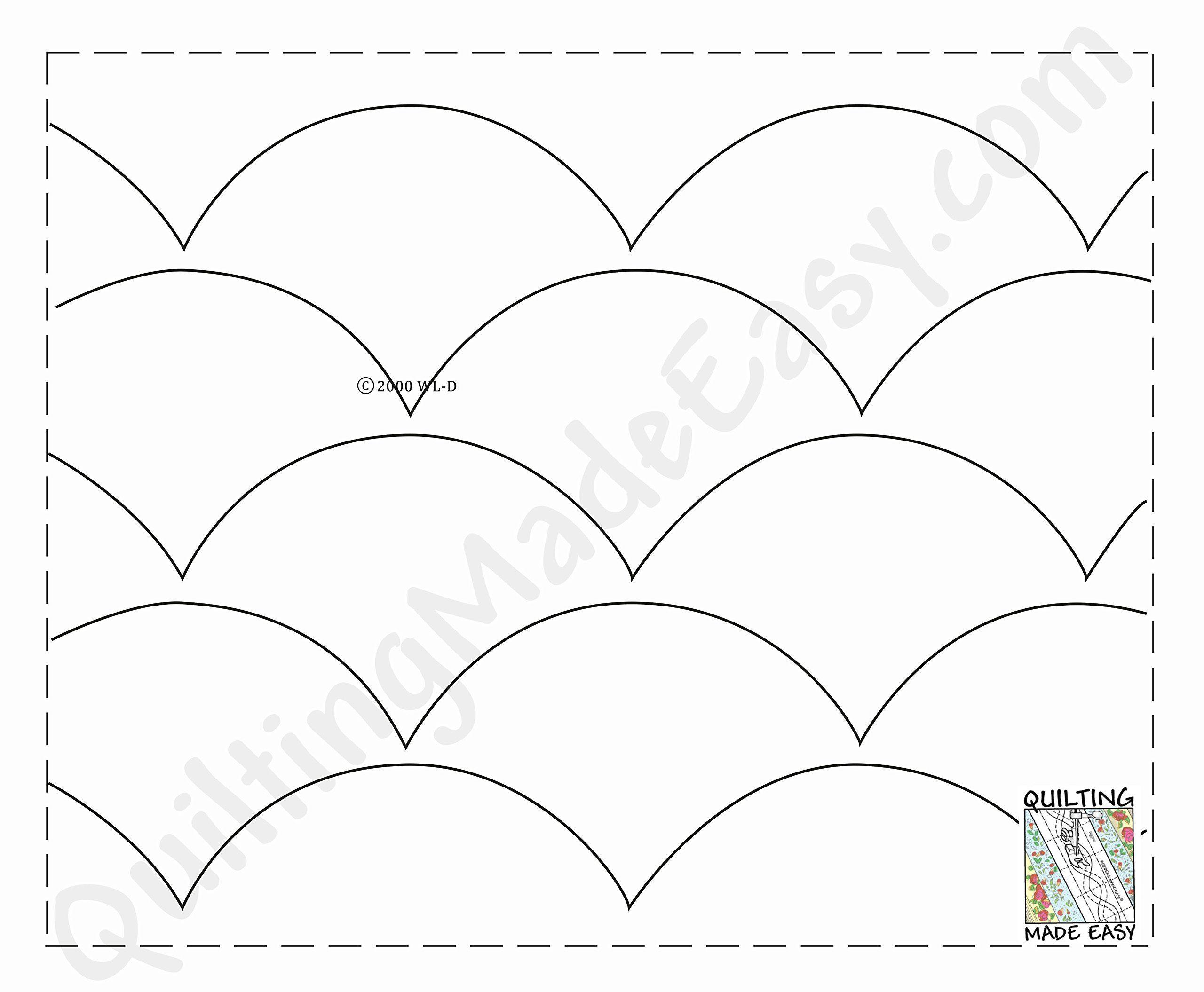 Pantograph Quilt Patterns Quilting Templates Easy Quilting Design Machine Quilting Patterns