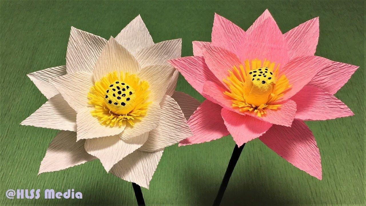 How To Make Beautiful Lotus Paper Flower Diy Origami Flower Diy