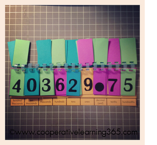 Diy Place Value Chart  Card Stock Math And School