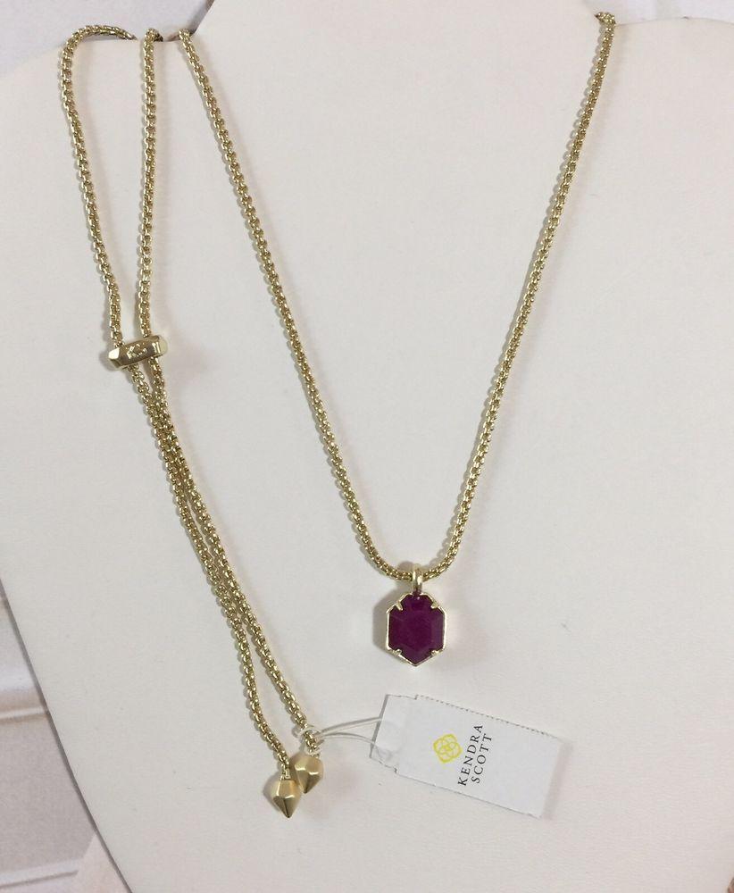Details About Kendra Scott Kacey Adjustable Pendant Necklace