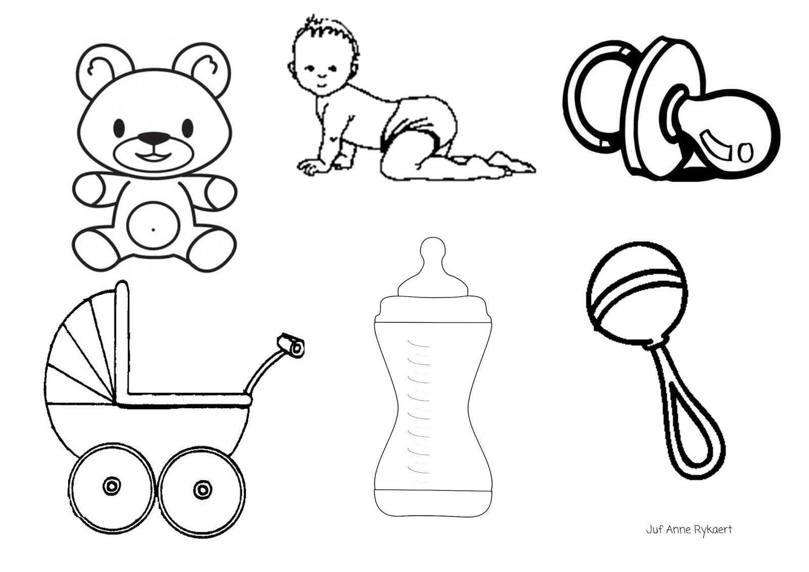 Kleurplaten Baby Spullen.Peuterthema S Welkom Kleine Baby Bc Baby Zusje Broertje Er Bij