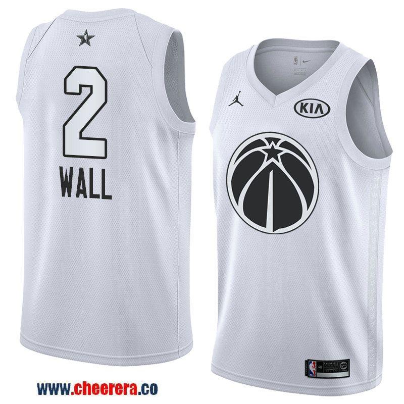 78b79b71238 men s western conference washington wizards  2 john wall white 2018 nba all- star jersey