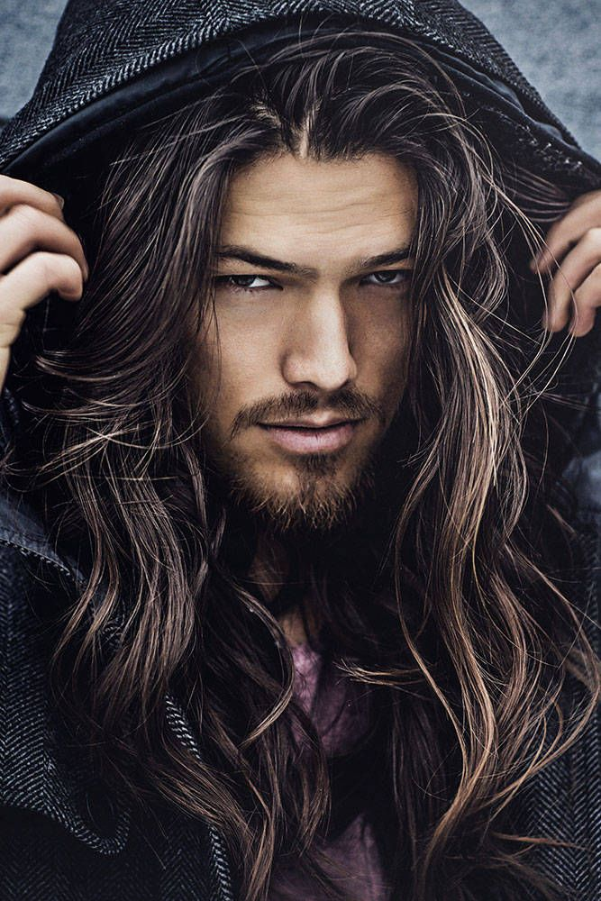 #malemodels #longhair | Hot long-haired male Models | Long ...