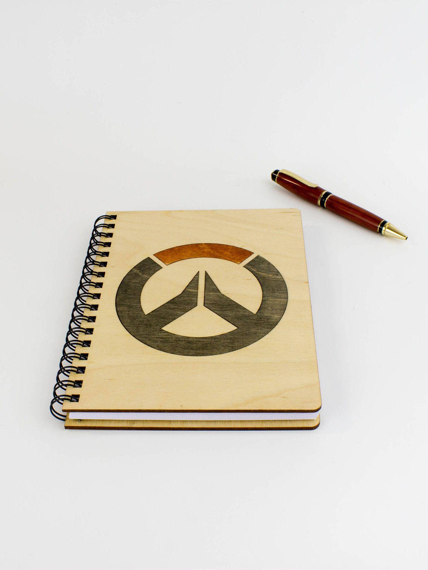 Wood inlay notebook, 5.5\