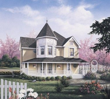 Victorian Style House Plan 3 Beds 2 5 Baths 2050 Sq Ft Plan 57 226 Disenos De Casas Casas Fachadas