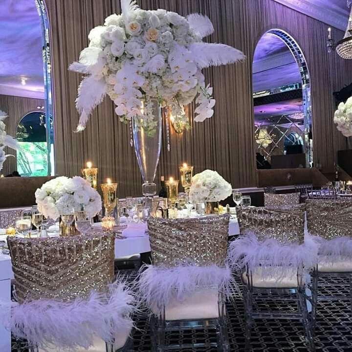 Cute Wedding Ideas For Reception: Wedding Chair Decorations, Silver Wedding