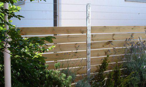 Sichtschutz Aus Bohlen U Stahl Profil Pfosten Zaunteam Spahni Ag Laupen Be 3234 Vinelz Be Zaun Sichtschutzzaun Gartenzaun