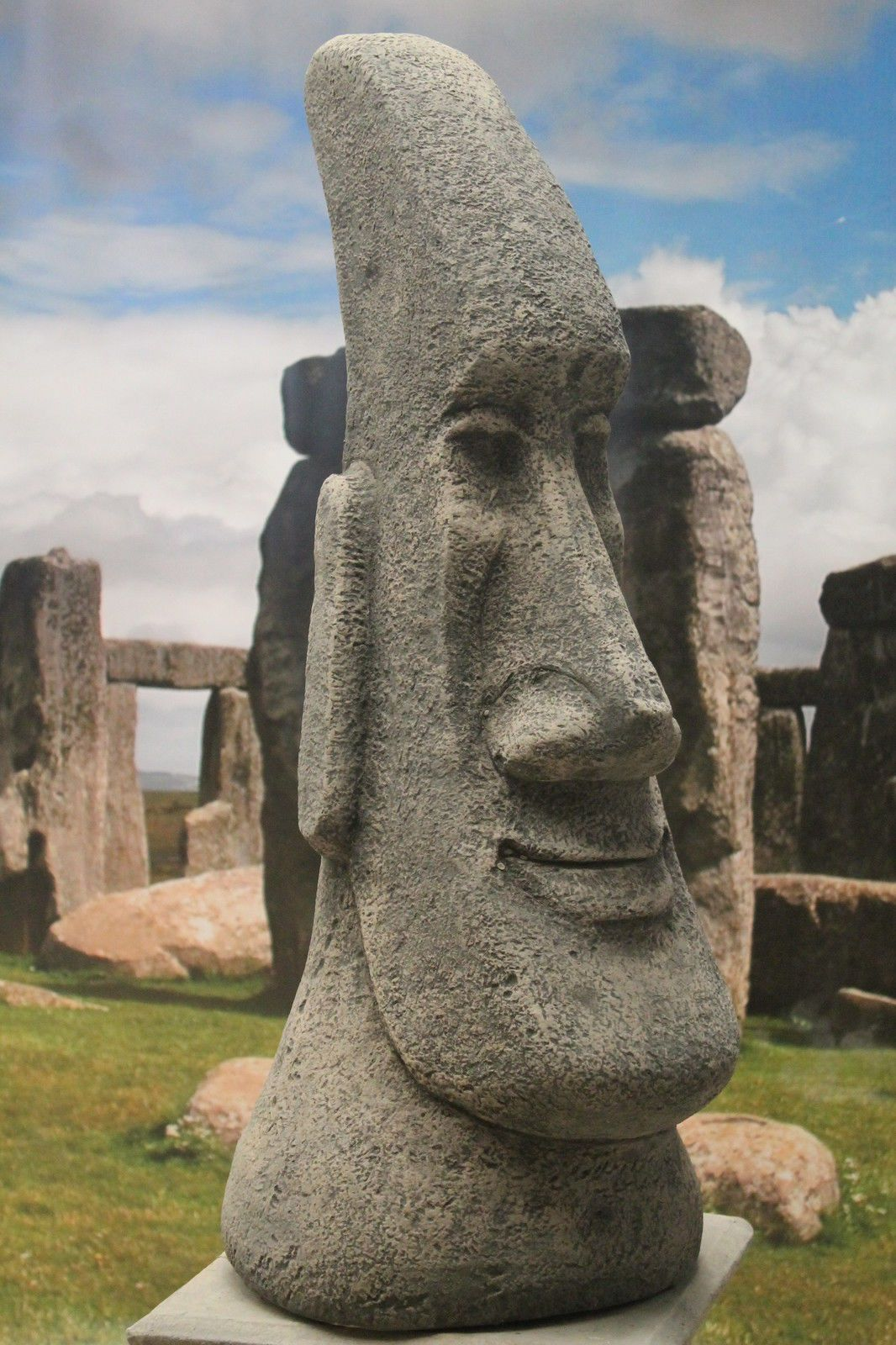 LARGE EASTER ISLAND STONE HEAD STATUE GARDEN ORNAMENT | EBay
