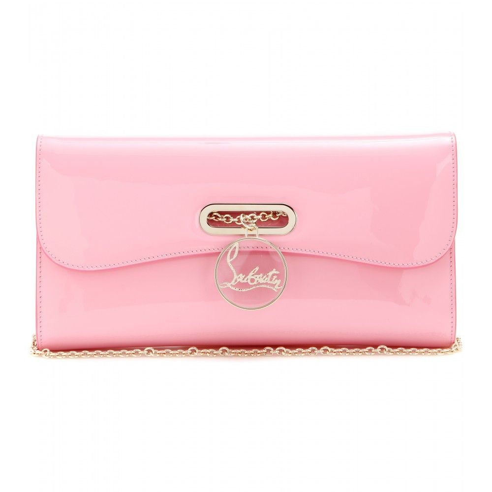 c0901deff0 Christian Louboutin - Riviera patent leather clutch - In a cotton candy  shade of pink, the 'Riviera' clutch from Christian Louboutin will add a  glossy final ...