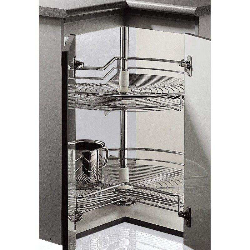 Cestas giratorias para armario de cocina de rinc n a for Organizar armarios cocina