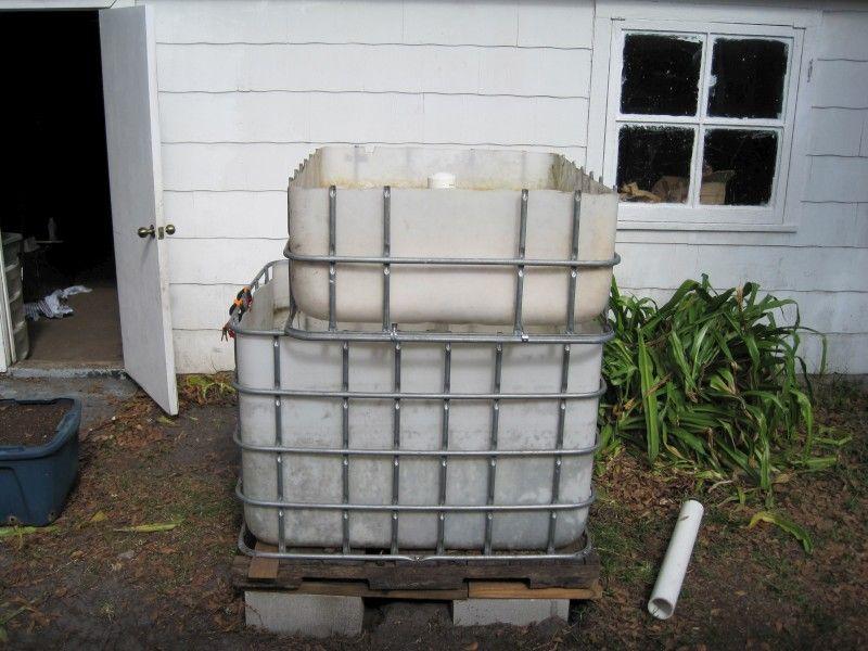 Aquaponic system built from ibc tote aquaponics