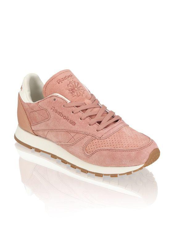 Reebok Cl Lthr Bread Butter Pink 2018 Schuhe Damen Sneaker