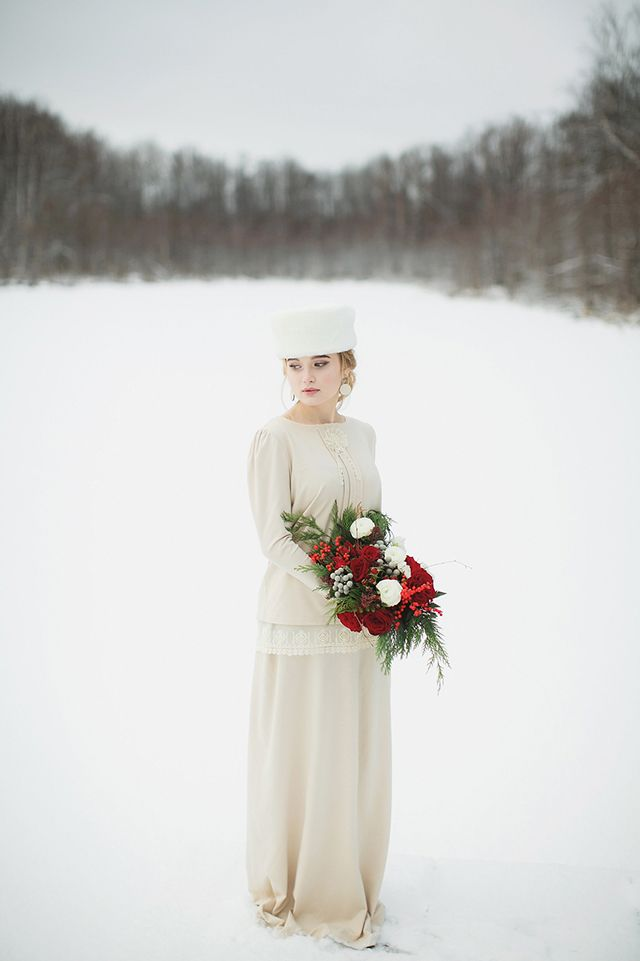 Traditional Christmas Wedding Inspiration from Russia