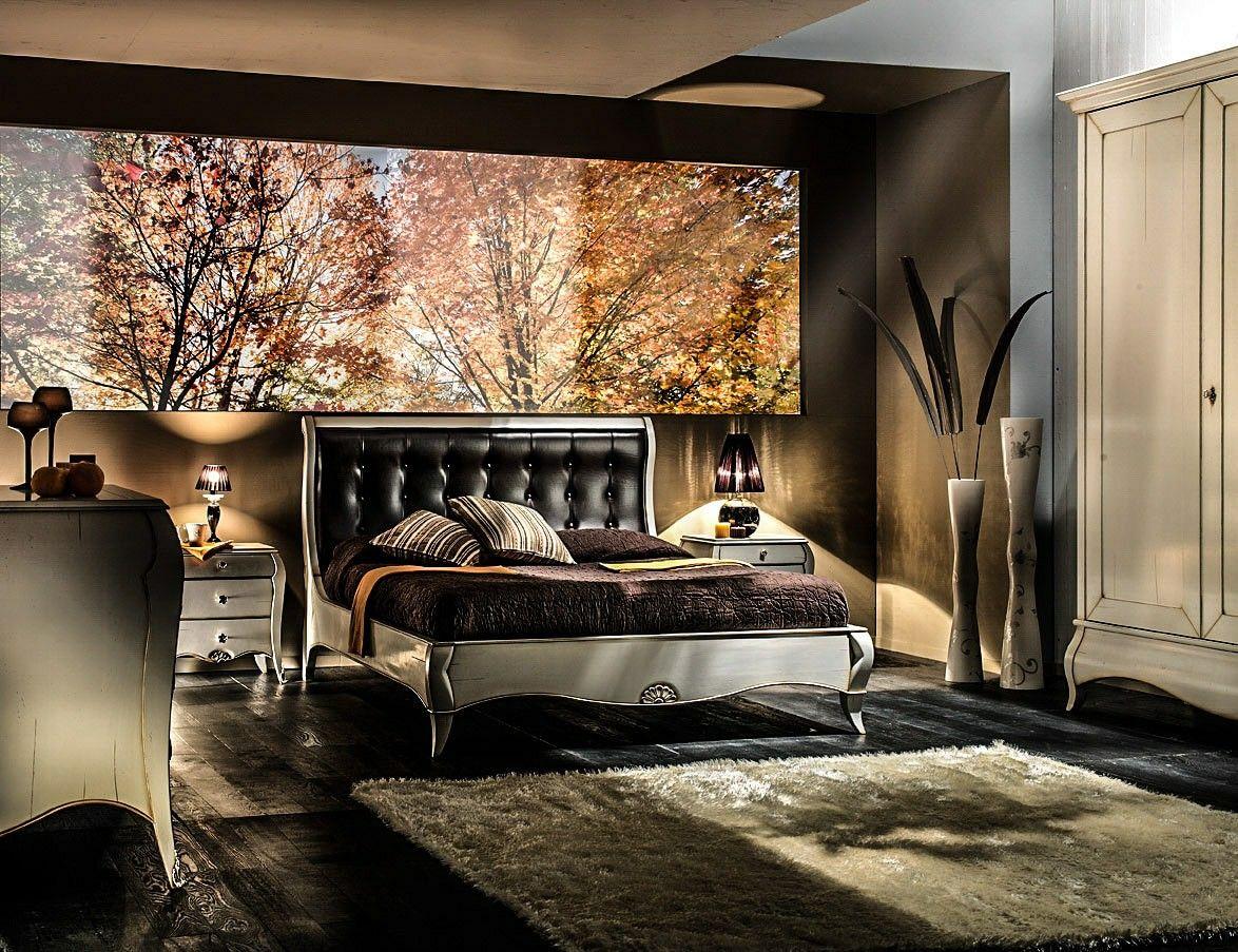Camera da letto matrimoniale in legno massiccio con ...