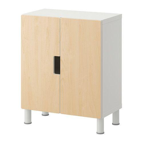 IKEA - STUVA, Storage combination with doors, white/birch, , Make ...