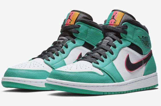 fa804a0d1d09 South Beach Vibes Land On This Air Jordan 1 Mid Turbo Green Summer is  officially over