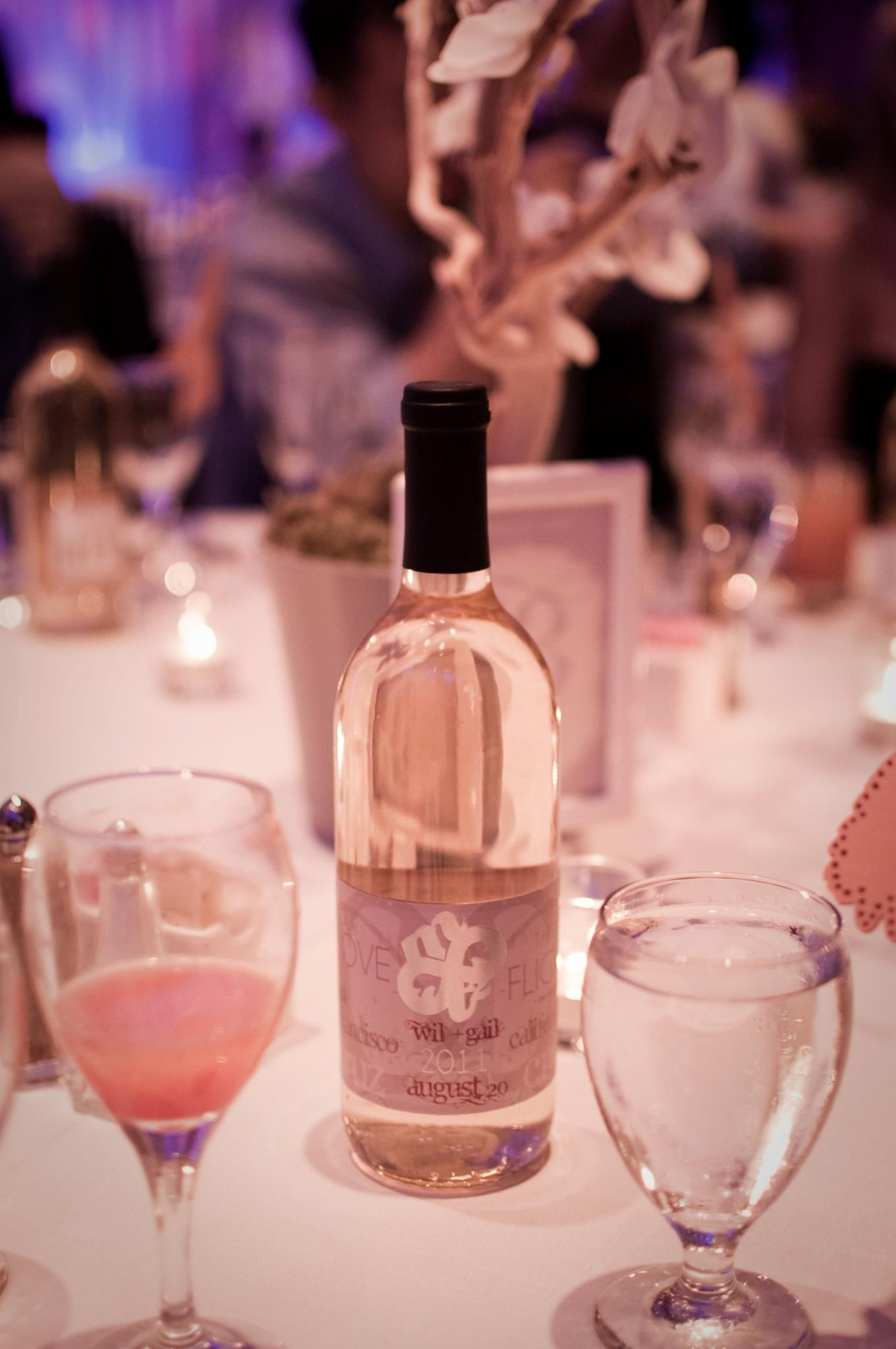 Our wedding favors • Personalized branded wine bottles with our logo ...