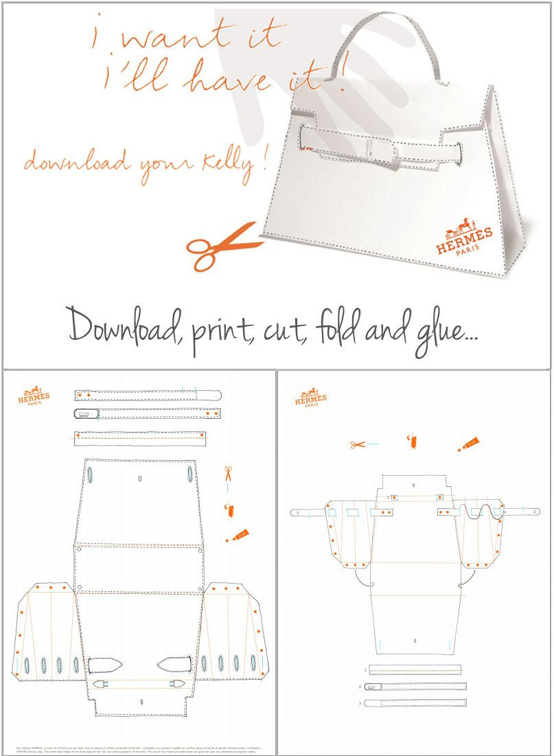 Hermes Kelly Bag Pattern tutorial | Crafts: General | Pinterest ...