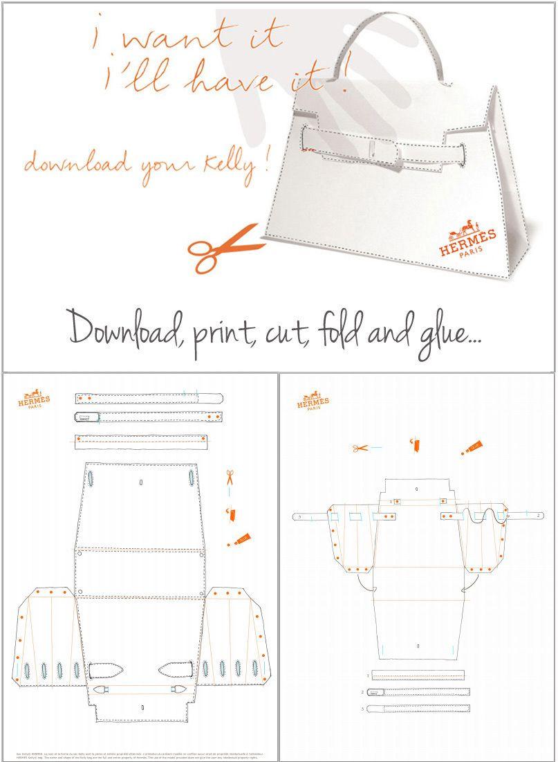hermes kelly bag pattern tutorial crafts general