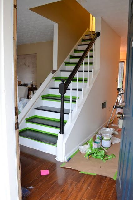 Dueling DIY: Hubba Hubba. Staircase WallsStaircase RemodelPainting Stairs Open ...