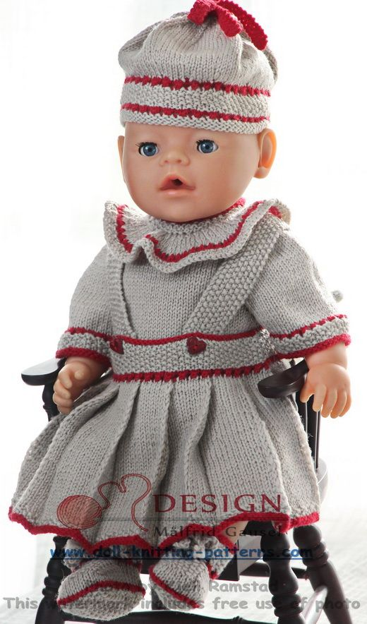dolls clothes knitting patterns Fits 17\