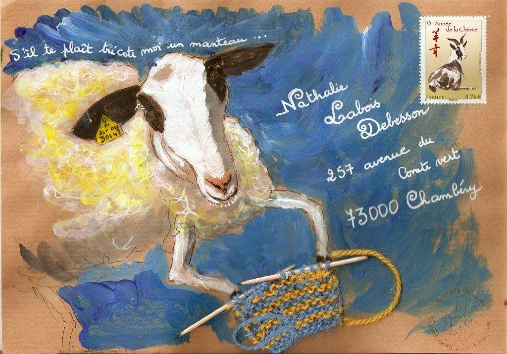 Laine Brebis Et Mail Art Courrier Des Enveloppes D Art Art Postal Art