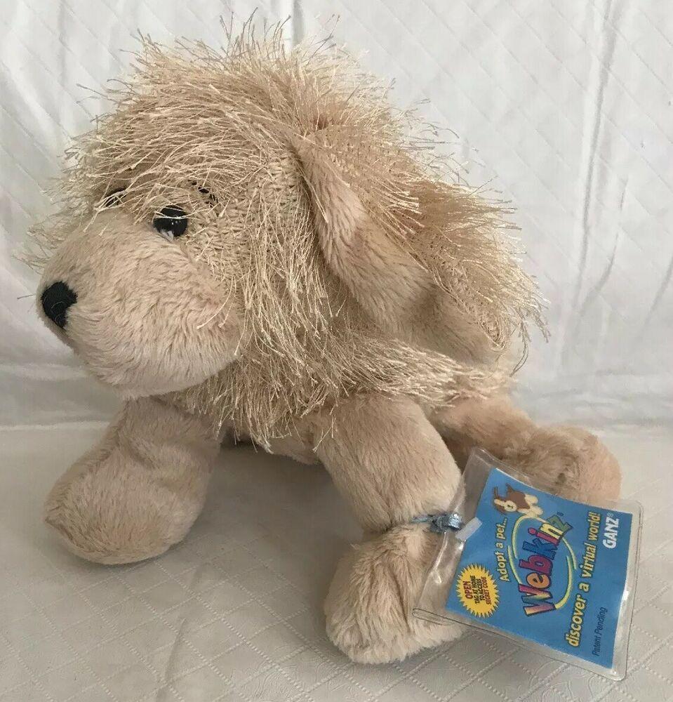 Ganz Webkinz Golden Retriever Dog Plush Stuffed Animal New Sealed