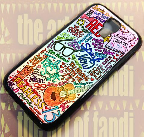 Rainbow Lyric Taylor Swift For Samsung Galaxy S4 Black Rubber Case | TheArtOffandi - Accessories on ArtFire