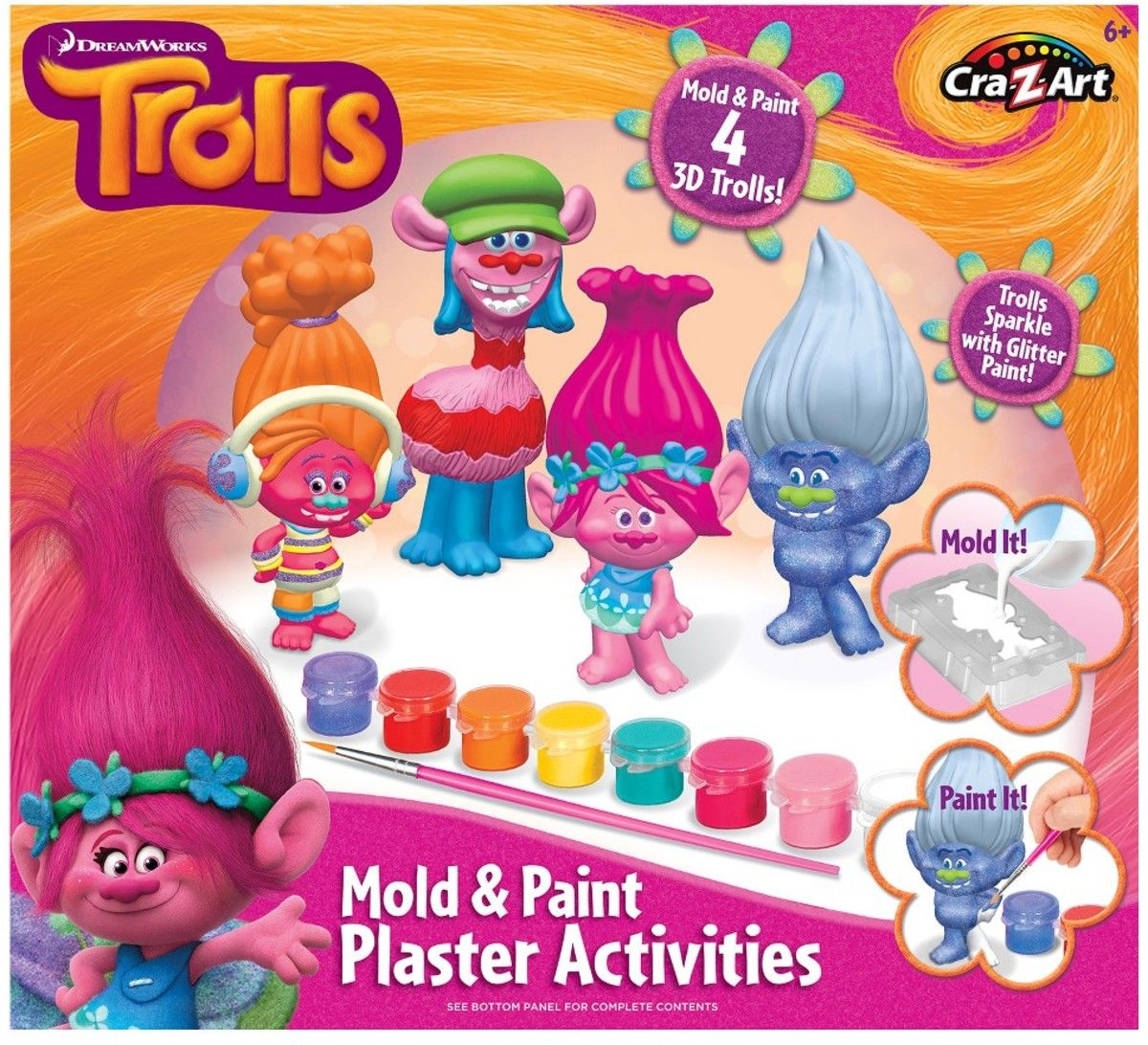 trolls diy paint play plaster activity kit cra z art the o find art and activity pads at target com based on the trolls movie