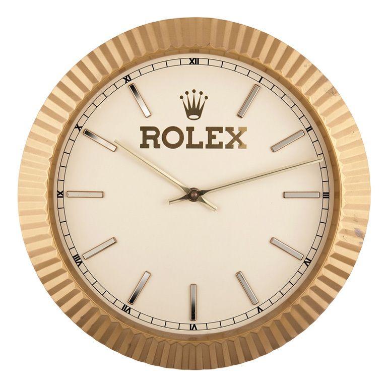 Rolex Wall Clock Circa 1980s 1stdibs Com Wall Clock Clock Wall