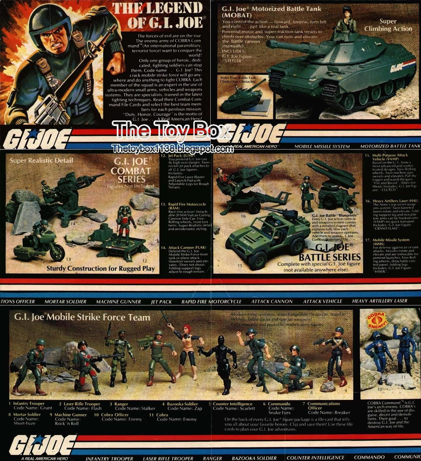GI Joe 1983 Original MOBILE STRIKE FORCE Application //Catalog Poster