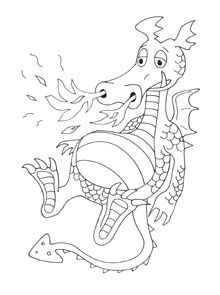 Dragon Coloring Pages | kids crafts Knights/Dragons/Castles ...