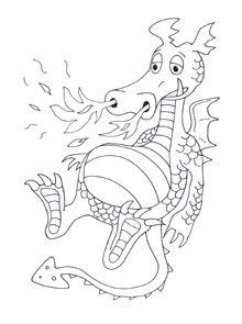 Kleurplaten Prinsessen Dieren.Dragon Coloring Pages Dieren En Planten Kleurplaten Kaarten En