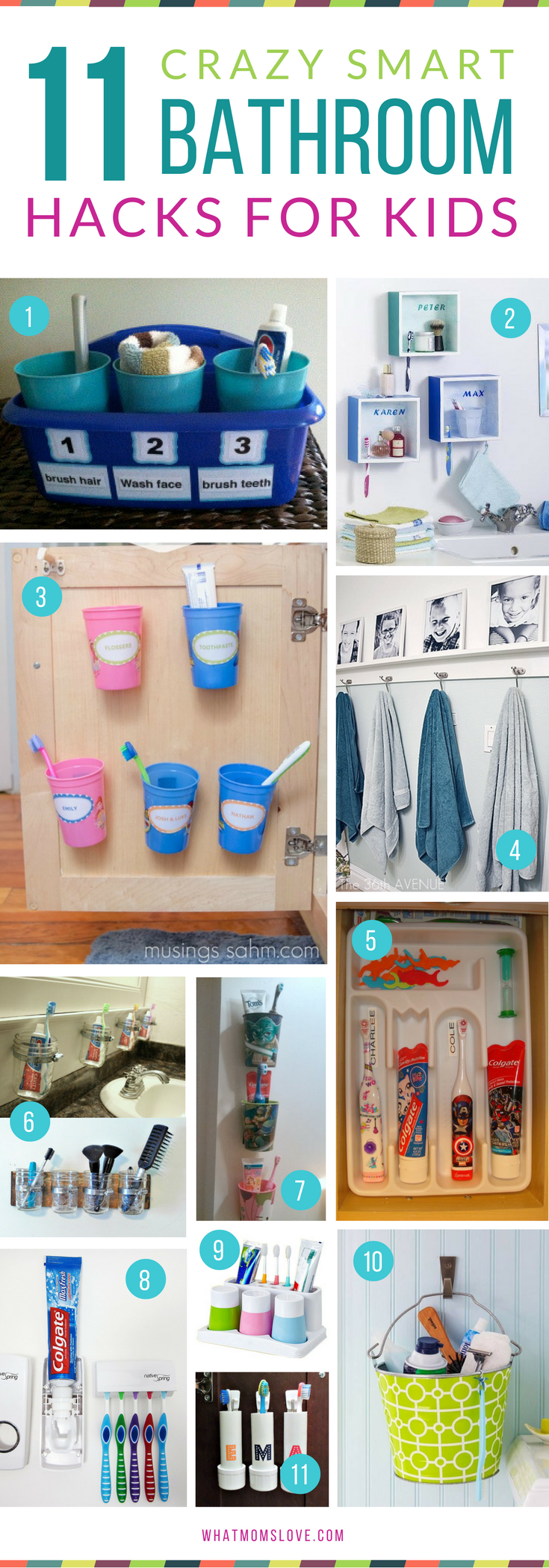 Genius Hacks For An Organized Bathroom Tips And Tricks For Stress Free  Mornings With Kids   Perfect For Getting Them Into A Back To School Routine! Awesome Ideas
