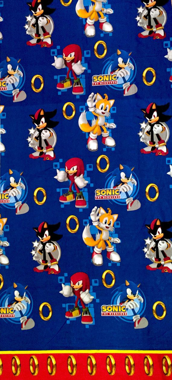 Sonic The Hedgehog Blue Polycotton Fabric By Sewinguniverse Polycotton Fabric Sonic The Hedgehog Hedgehog