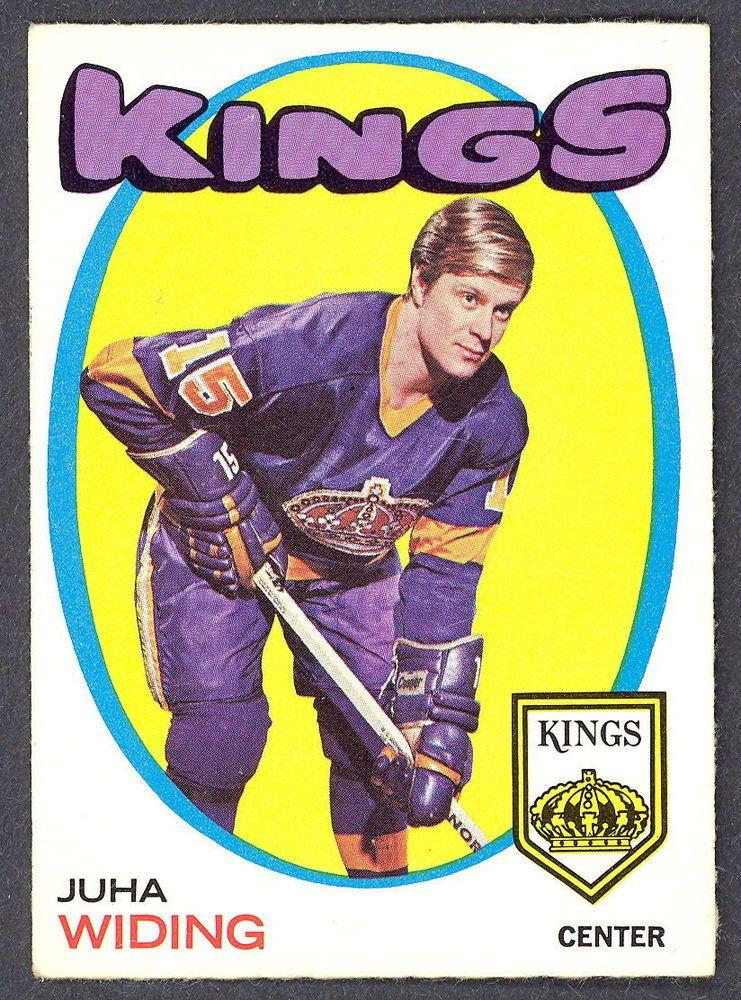 1971 72 topps 86 juha widing l a kings exnm card