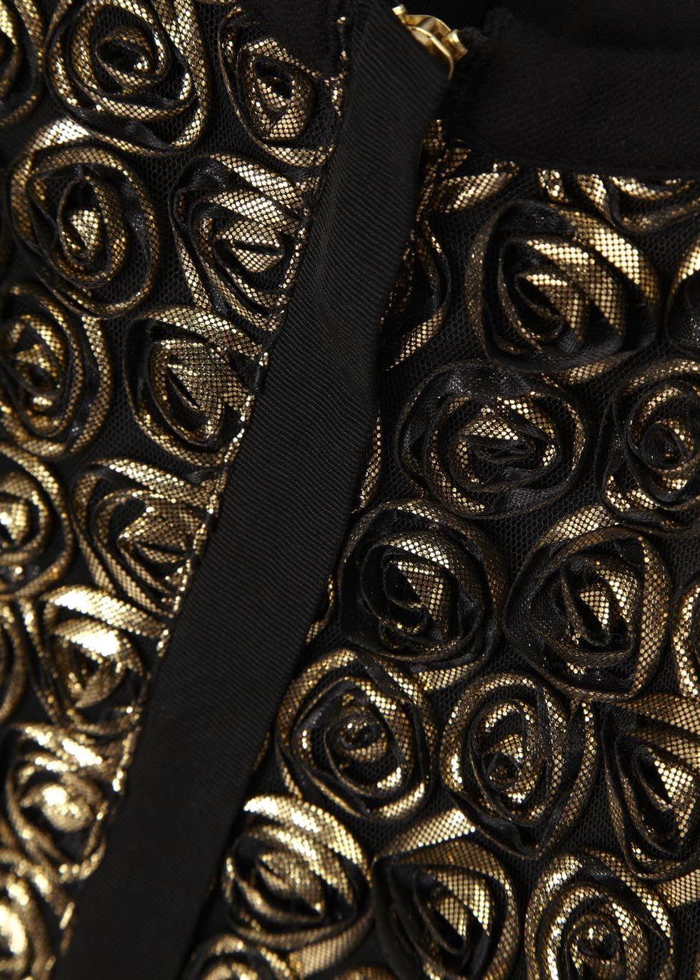 Donna black and gold rose jacket - Women