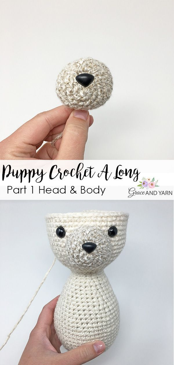 Join us for a fun and free crochet-a-long! In 3 parts we will be making a sweet puppy, starting today with the head and body!