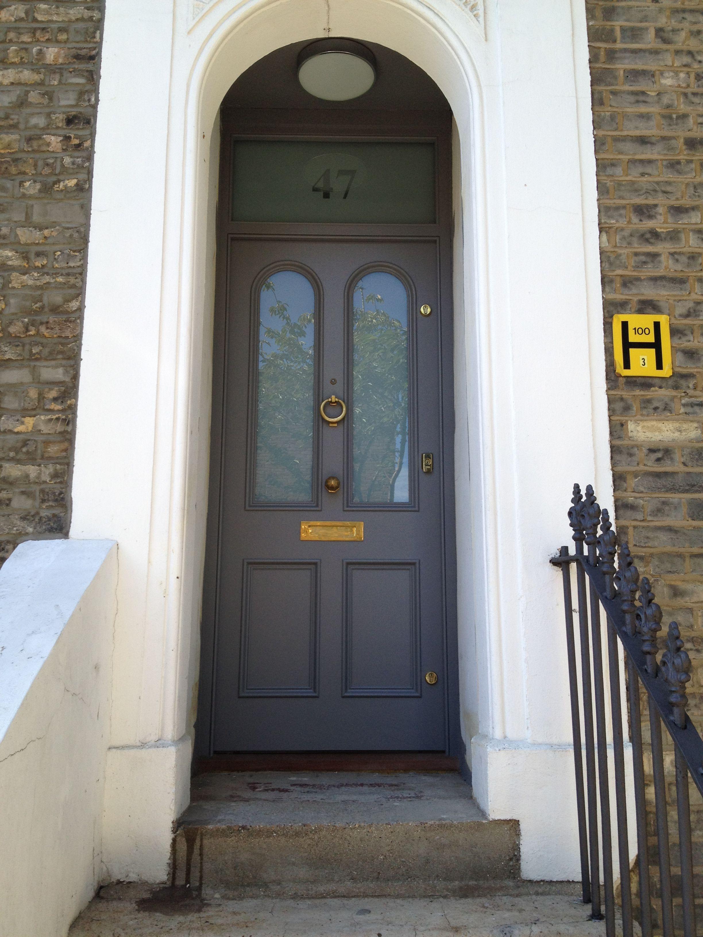 A Smart Victorian Front Door In East London Front Door Victorian Front Doors Doors